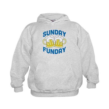 Sunday Funday Drinking Shirt Kids Hoodie