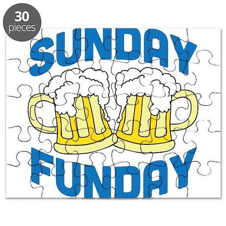 Sunday Funday Drinking Shirt Puzzle