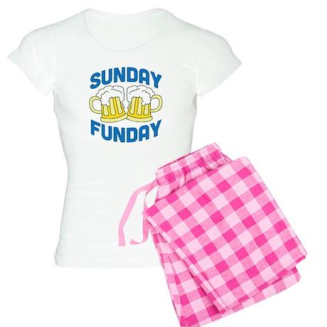 Sunday Funday Drinking Shirt Women's Light Pajamas