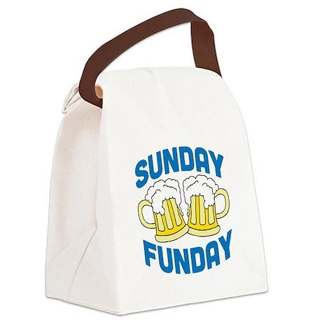 Sunday Funday Drinking Shirt Canvas Lunch Bag