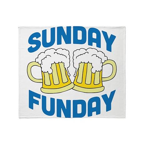 Sunday Funday Drinking Shirt Throw Blanket