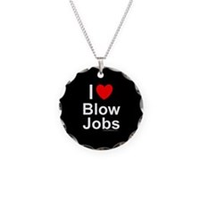 Blow Jobs Necklace Circle Charm