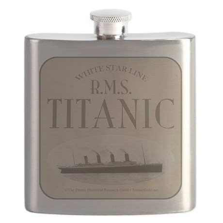 RMS TItanic Ghost Ship Sepia Flask