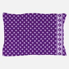 Pawprints Pillowcase Deep Purple w/Lt Purple Pawpr