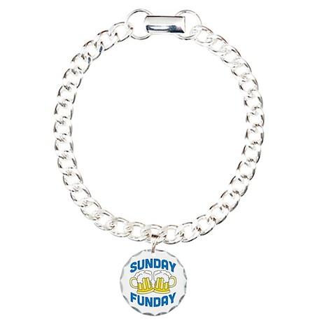 Sunday Funday Charm Bracelet, One Charm