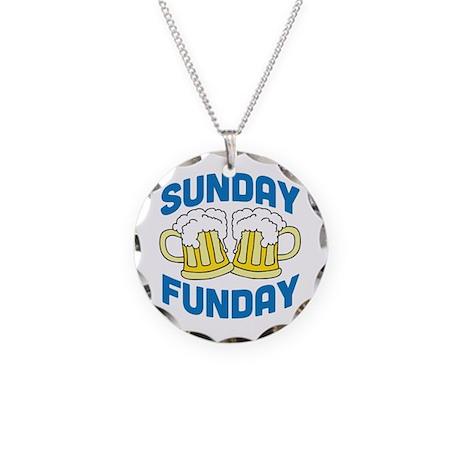 Sunday Funday Necklace Circle Charm