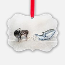 &Quot;Chinese Crested Pulling Sleigh&Quot; Ornament