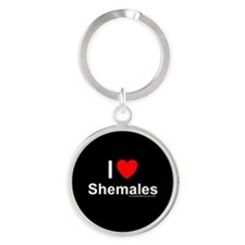 Shemales Round Keychain