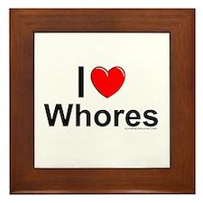 Whores Framed Tile