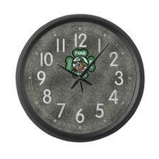 Irish Fire Dept. Large Wall Clock