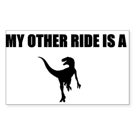 Other Ride is a Raptor Sticker (Rectangle 50 pk)