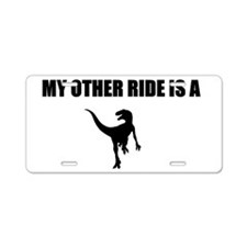 Other Ride is a Raptor Aluminum License Plate