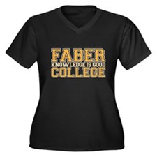 faber college Women's Plus Size V-Neck Dark T-Shir