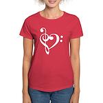 Clef Heart Women's Dark T-Shirt