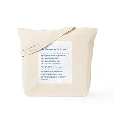 St Francis Peace Prayer Tote Bag