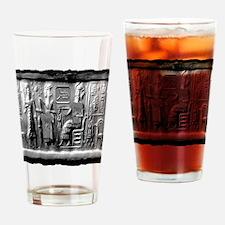 summerian tablet art illustration Drinking Glass