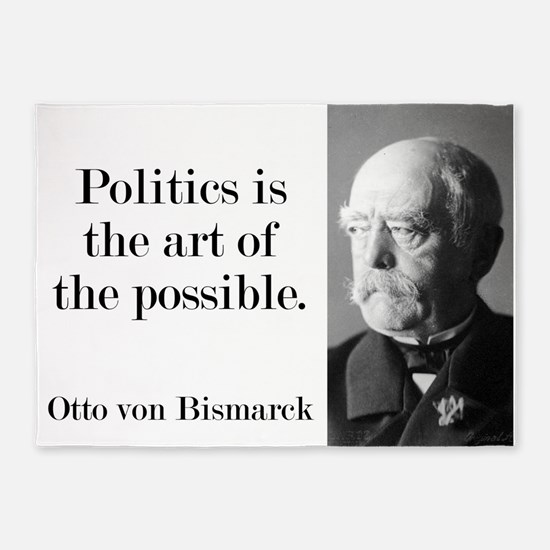Politics Is The Art - Bismarck 5'x7'Area Rug