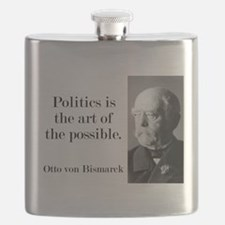 Politics Is The Art - Bismarck Flask