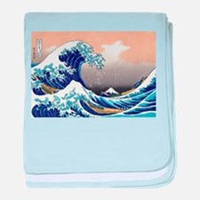 The Great Wave off Kanagawa baby blanket