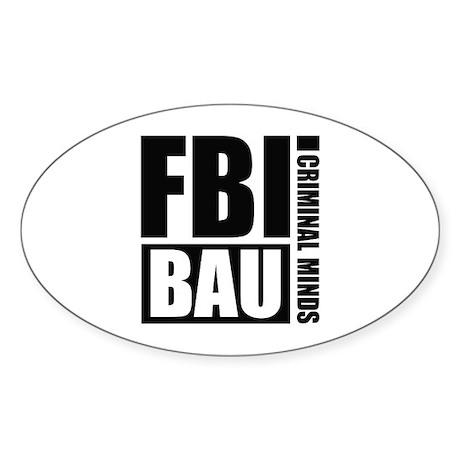 FBI BAU Criminal Minds Sticker (Oval)