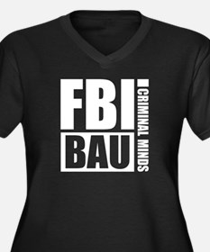FBI BAU Criminal Minds Women's Plus Size V-Neck Da