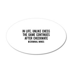 Criminal Minds Quote 22x14 Oval Wall Peel
