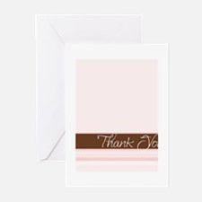 pink ribbon thank you Greeting Cards