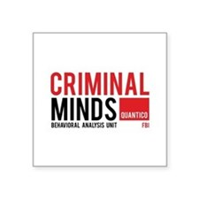 "Criminal Minds Square Sticker 3"" x 3"""
