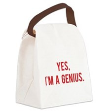 Yes, I'm a genius Canvas Lunch Bag