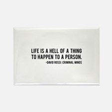 David Rossi Quote Rectangle Magnet