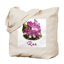 Rae: Purple Flower Tote Bag