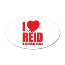 I Love Reid - Criminal Minds 22x14 Oval Wall Peel