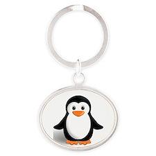 penguin Oval Keychain