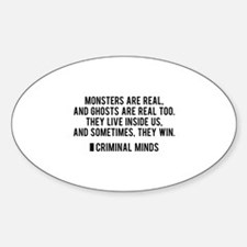 Criminal Minds Quote Sticker (Oval)