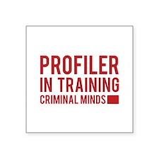 """Profiler in Training Square Sticker 3"""" x 3"""""""