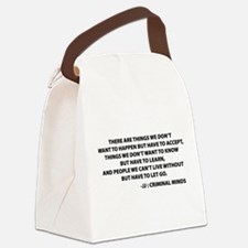 JJ Quote Criminal Minds Canvas Lunch Bag