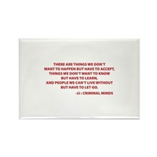 JJ Quote Criminal Minds Rectangle Magnet