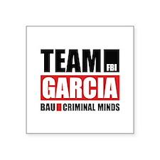 "Team Garcia Square Sticker 3"" x 3"""