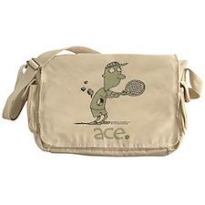Cute Funny tennis cartoon Messenger Bag