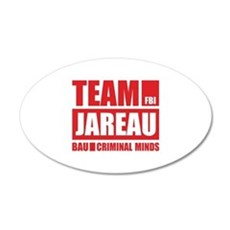 Team Jareau 22x14 Oval Wall Peel