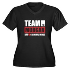 Team Morgan Women's Plus Size V-Neck Dark T-Shirt