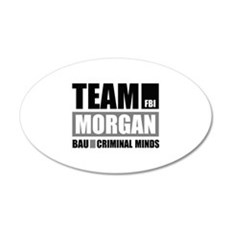 Team Morgan 22x14 Oval Wall Peel