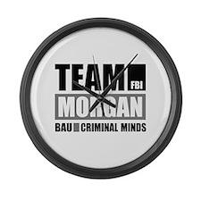 Team Morgan Large Wall Clock