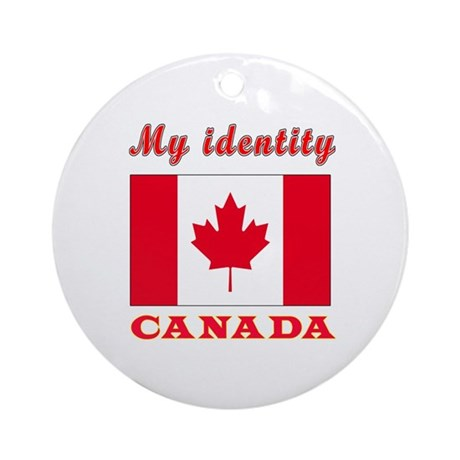 My Identity Canada Ornament (Round)