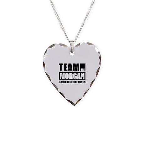 Team Morgan Necklace Heart Charm
