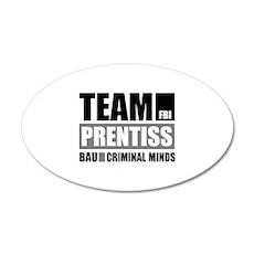 Team Prentiss 22x14 Oval Wall Peel