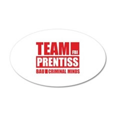 Team Prentiss 22x14 Oval Wall Peel