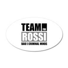 Team Rossi 22x14 Oval Wall Peel