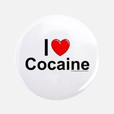 "Cocaine 3.5"" Button"