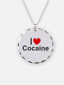 Cocaine Necklace Circle Charm